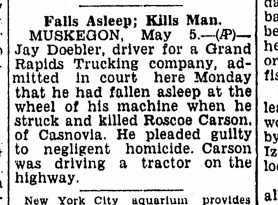 Roscoe Carson death