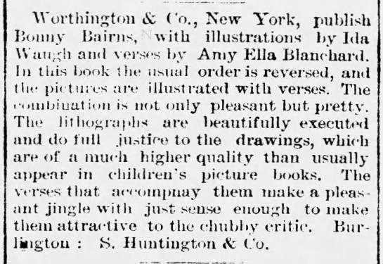 - Wortliington & Co., New York, publish Bonny...