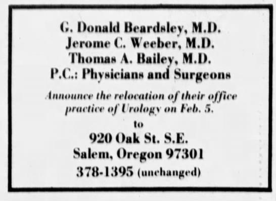 Office Relocation (Statesman Journal (Salem 4 Feb. 1979)