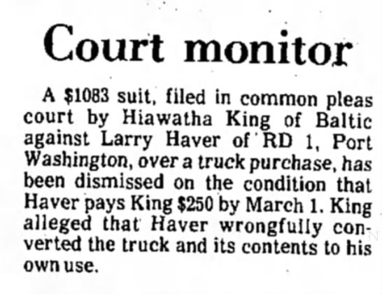- Court monitor A $1083 suit, filed in common...