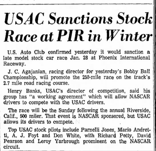 671120 Repub Stock Car Confirmed - US AC Sanctions Stock Race at PIR in Winter...