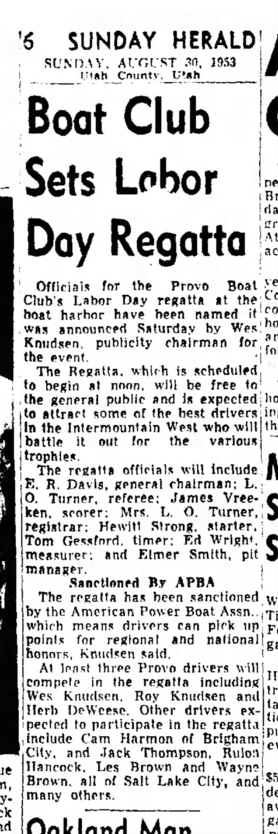 The Sunday Herald (Provo, Utah) August 30 1953 page 6