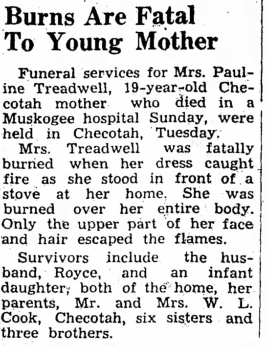 Royce Treadwell's wife dies from burns