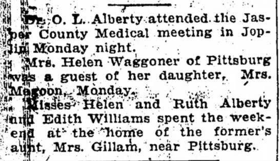 Helen and Ruth Alberty.Dec 16, 1922Joplin Globe - «b <f •• • —r M l»fe;0. L...