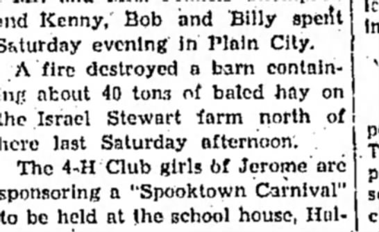 Nov. 1, 1945 - and Kenny, Bob and Billy spetl S&turday evening...