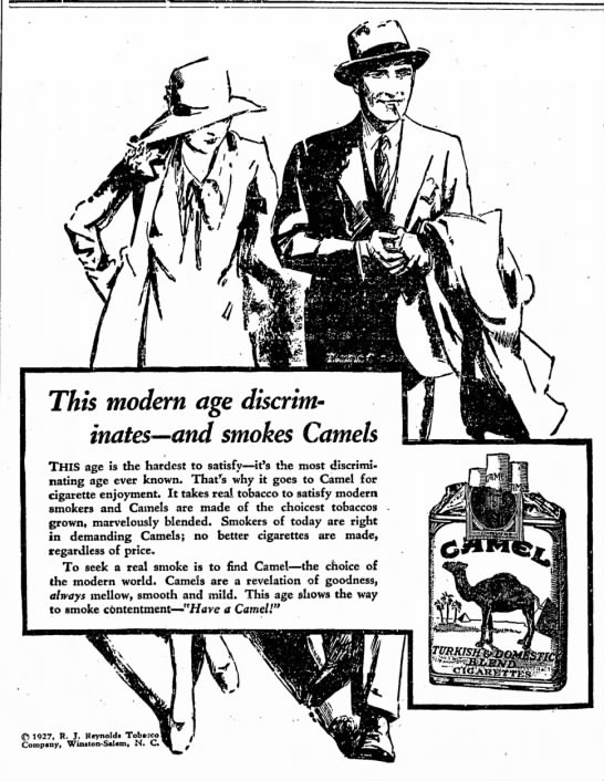 content4 in 1927 - This modern age discriminates—and...