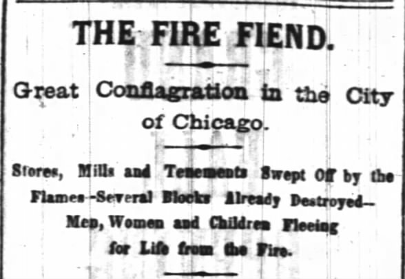 The Fire Fiend - Great Chicago Fire 1871