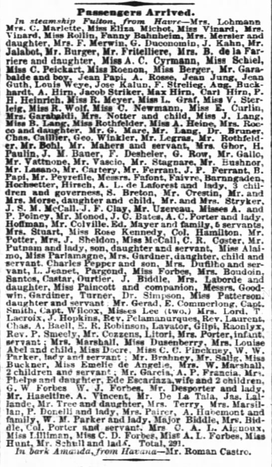 NY Times 11-3-1858 section pg 8