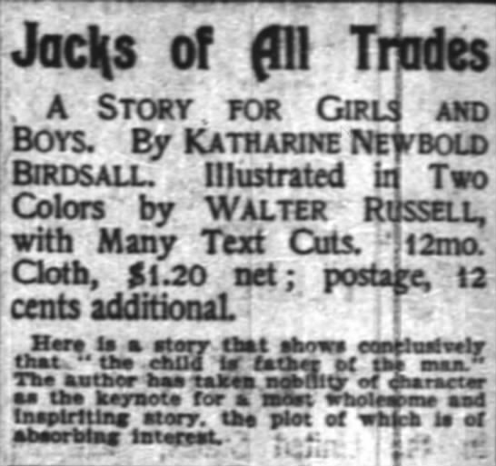 The New York Times (New York, New York) 17 December 1902  Page 6 - JacHs of fni Tmdes . A Story , for Caij and...