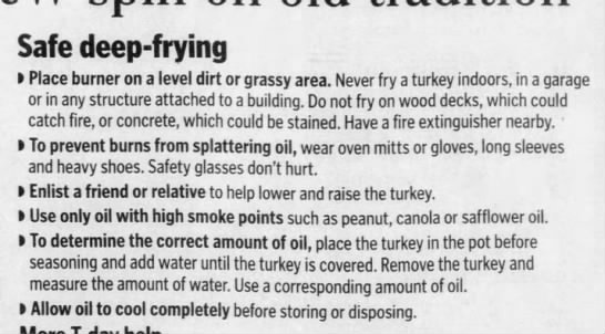 Turkey deep-frying safety tips