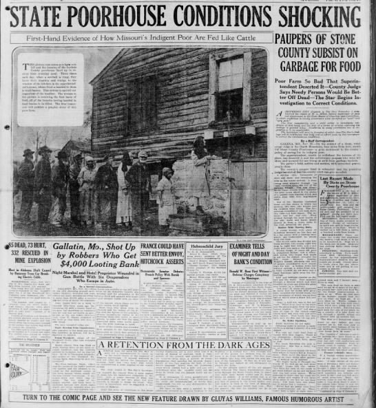 """St. Louis newspaper reports on conditions at local poorhouse - PI 1 1 VI f 4 ' j? M ussy. """" 1 i i First-Hand..."""