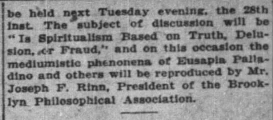The New York Times (New York, New York) 26 November 1911  Page 44 - be held next Tuesday evening, the 28th Inst....