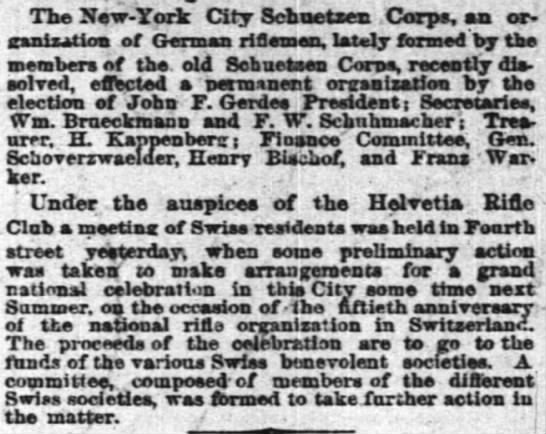 Herman Kappenberg - treasurer rifle assn - The New-York New-York New-York City Scbnetxen...