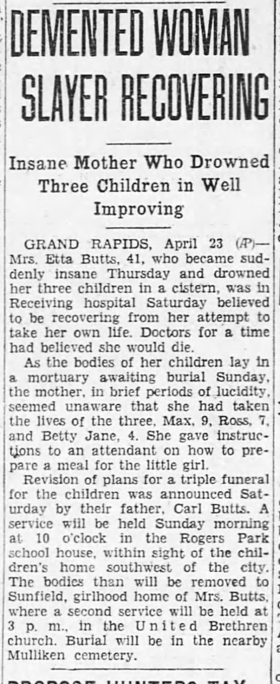 Etta demented? - DEMENTED 1111 Insane Mother Who Drowned Three...