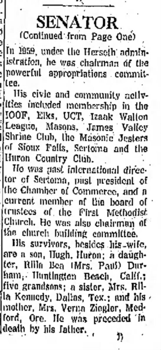 Carroll Fullerton dies in Car Accident - Oct 1961, pg 2 - on are in Hies included membership in tho have...