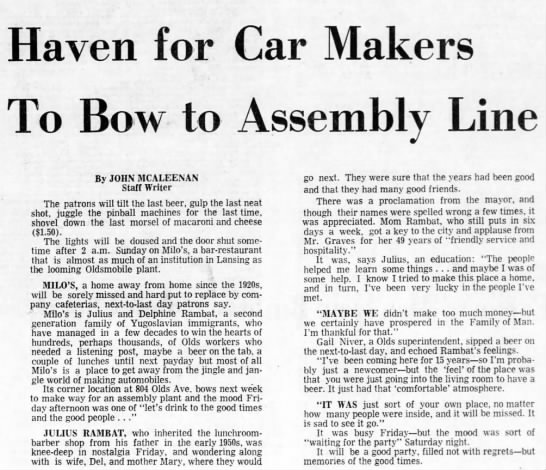 - Haven for Car Makers To Bow to Assembly Line By...
