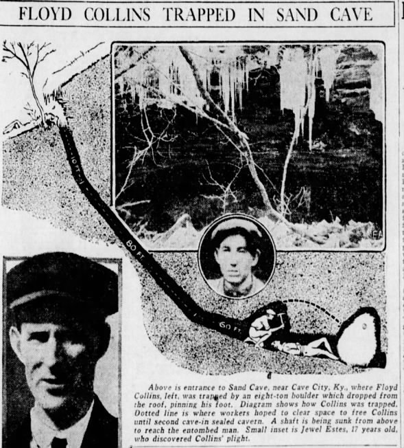 Floyd Collins Trapped in Sand Cave