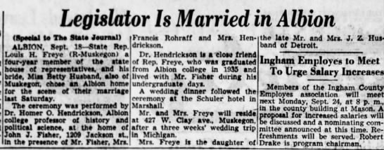 "Mrs. Francis Rohraff attends wedding - Legislator Is Married in Albion (""peeiaj to The..."