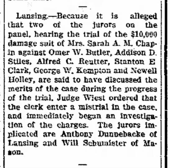 2 Dec 1911 Dunnebacke - for- organ- Re- taken or- over- it is worked...