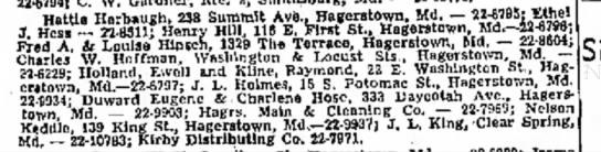 Abandoned Property Raymond Kline 1969 - HatUai Harbaugh, 238 Summit Ave., Hagerstown,...