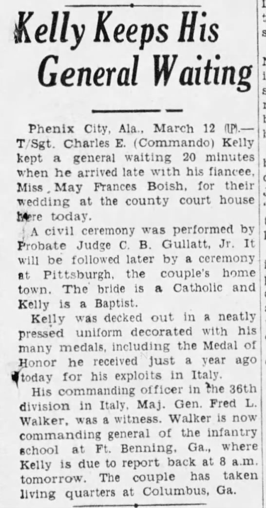 1945-03-13 The Times (Shreveport, LA) Kelly Keeps His General Waiting 13