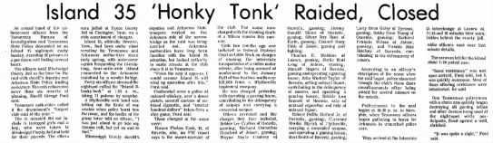 The Courier News (Blytheville, AR) Monday, November 5, 1973 - Island 35 'Honky Tonk' Raided, Closed An armed...