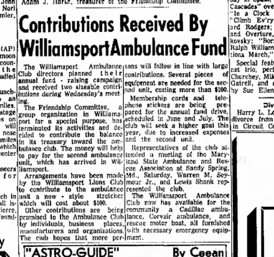 Hagerstown Daily Mail 5/3/63 - John Norl that moon encounter t h e studied to...