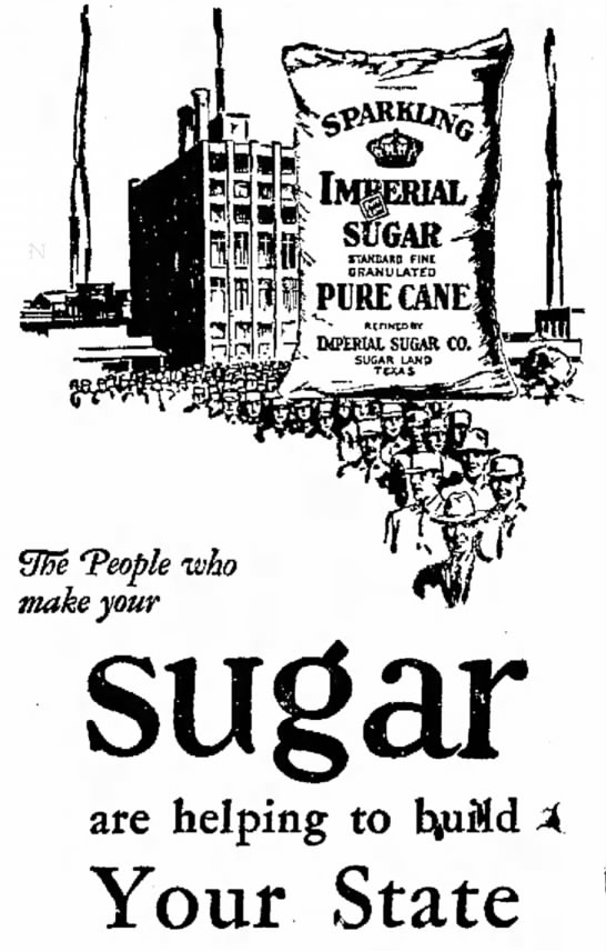 Great sugar ad - Teople who make your are helping to Your State