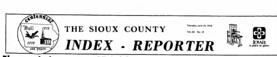 - THE SIOUX COUNTY Thursday, June IS, 1972 Vol.94...