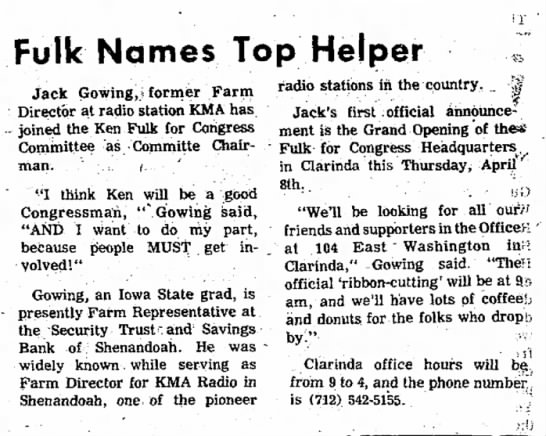 Jack Gowing Chairs Ken Fulk for Congress Committee - On and weight. herd have to Fulk Names Top...