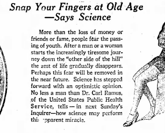 Old Age Need No Longer be a Fear, Says Science.