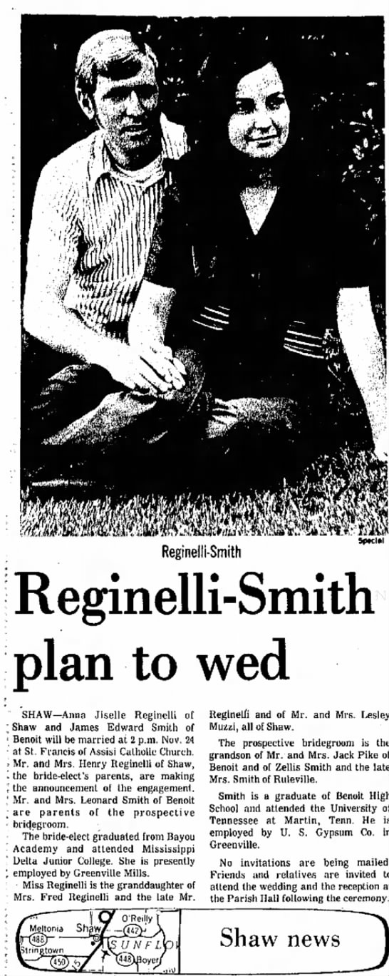 Smith-Reginelli Engagement Announcement