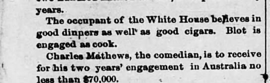Blot - White House - years. The oogpant of the White Housabeheves in...