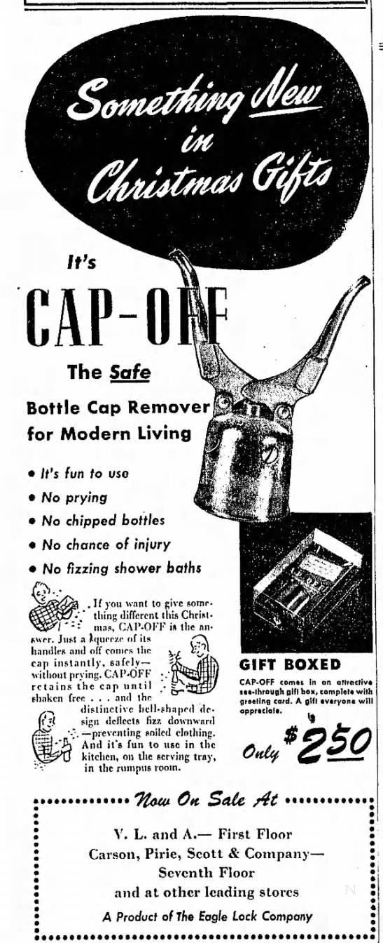 Eagle Cap-Off - Bottle Cap Remover for Modern Living It's fun...