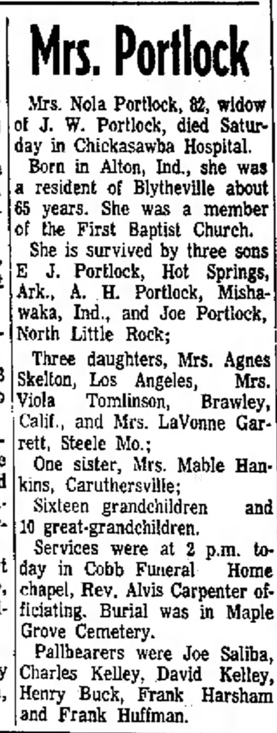 The Courier News (Blytheville, Arkansas) Nov. 15, 1971 pg 4 - died she Pen- Howard, tomorrow Home and PatP,...