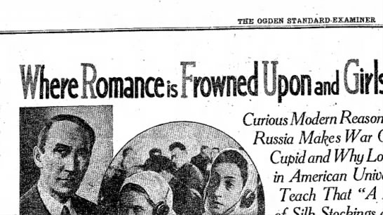 Soviet Marriage - THE OQDEH Curious Modem Russia Makes Cupid and...
