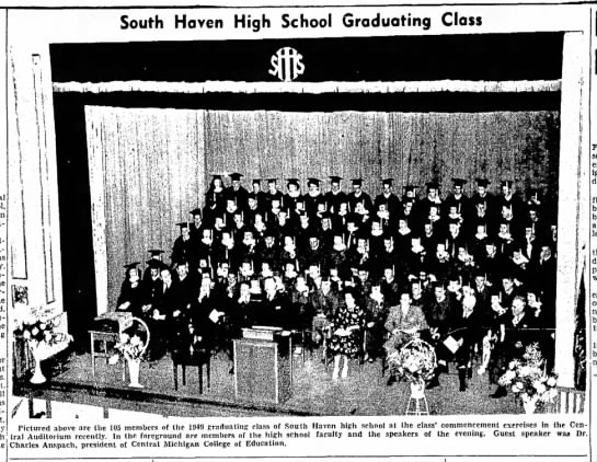 1949 South Haven HS Graduating Class - been Saturday. the the authority the plant will...
