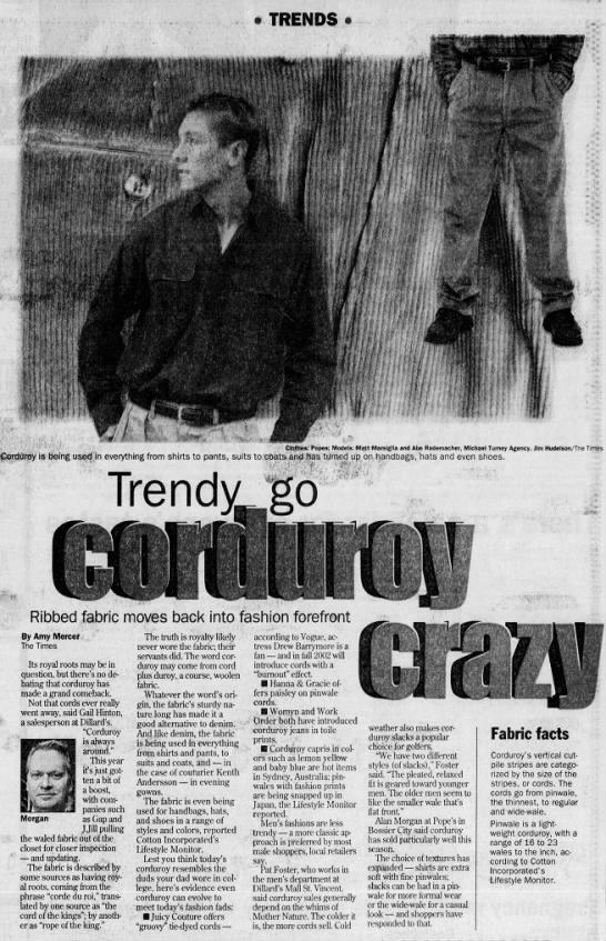 Trendy go corduroy crazy - TRENDS 4 ;MW smitmnwmi t. u ,-. ,-. ,-. r i n...
