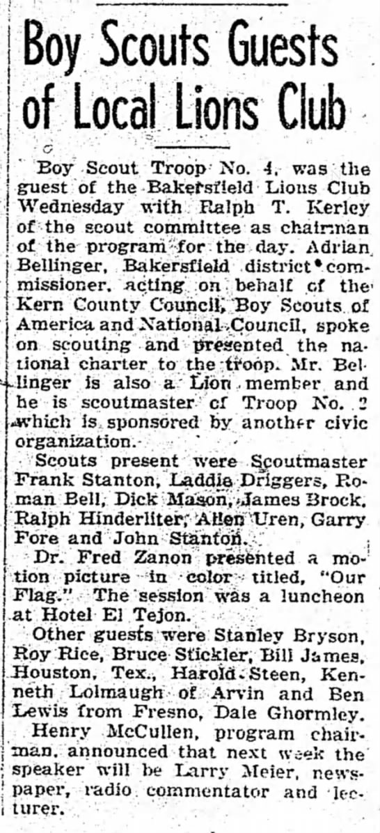 - Boy Scouts Guests of Local Lions Club i Boy...