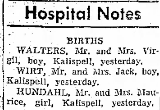 Margaret Wayne Nuneaton baby girl - to- Hospital Notes . . BIRTHS WALTERS, Mr. and...