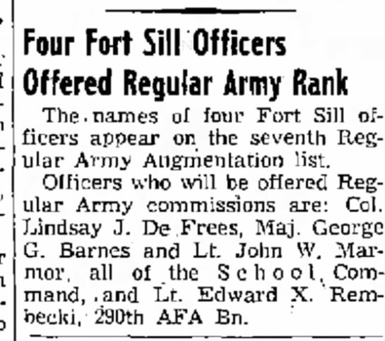 - finished from into Four Fort Sill Officers...