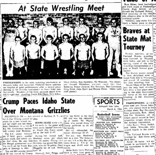 - At State Wrestling Meet Russ Ritter, head...