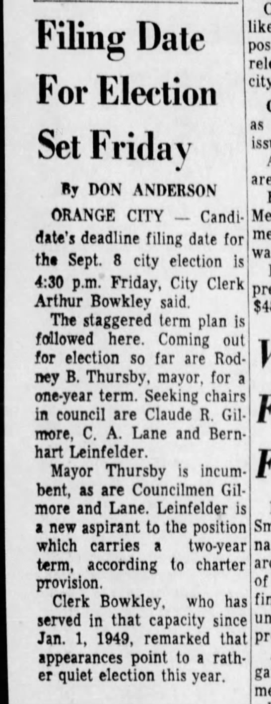 8/19/1959 - Filing Dale For Election Set Friday By DON...