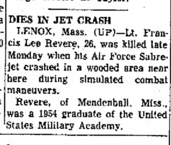 5-28-57 Greenville MS paper - T h e sponsoring a DIES IN JET CRASH LENOX,...