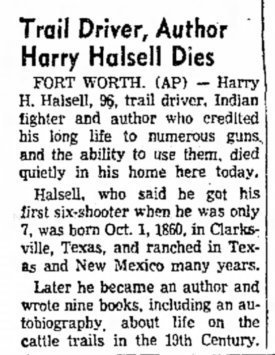 - Trafl Driver, Author Harry Halseli Dies FORT...