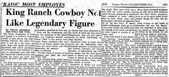 Laureles Ranch - Montalvo - I'RAISI? MOST EMPLOYES King Ranch Cowboy Not...