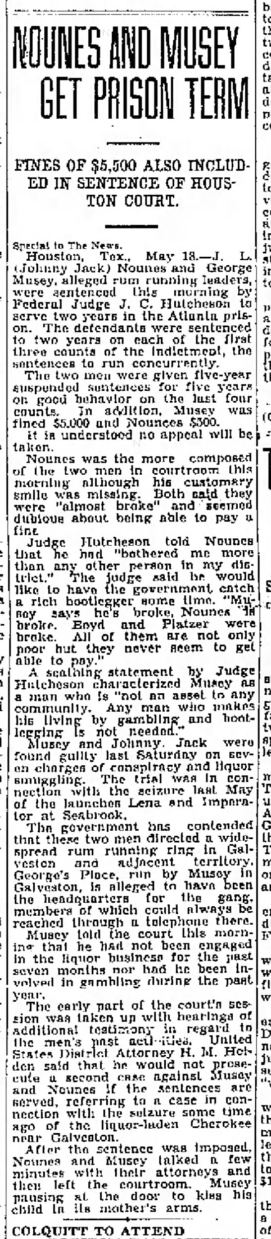 Johnney Jack- sentencing 1929 - little the first. and 1) 18.---It became ace...