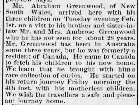 Residence - Mr. Abraham Greenwood, of New South Wales...