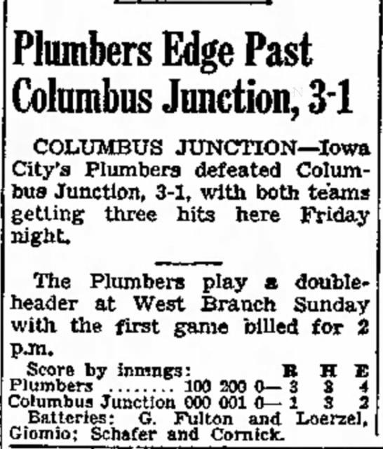 Iowa City Press-Citizen 26Jun1948 - to the Plumbers Edge Past Columbus Junction,...