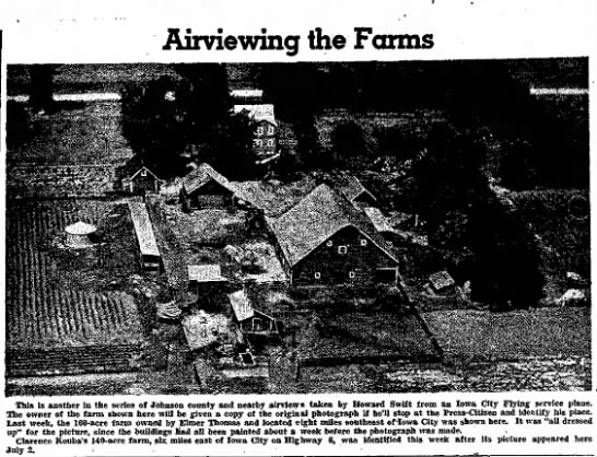 Joe Kerf air view farm 7-16-1948